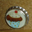 Sweet Cupcake Bottlecap Magnet #13