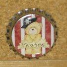Chubby Bear Pirate Bottlecap Magnet #15