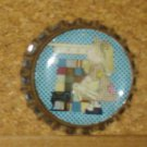 Quilter Girl Bottlecap Magnet #13