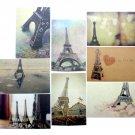 Paris Postcard Set Of 8 Eiffel Tower Collectible Souvenirs New