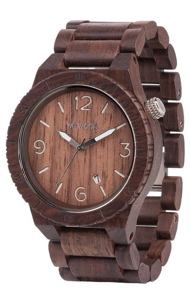 WeWOOD Alpha Chocolate Watch - Natural Wood Timepiece