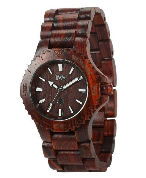 WeWOOD Date Brown Watch - Natural Wood Timepiece