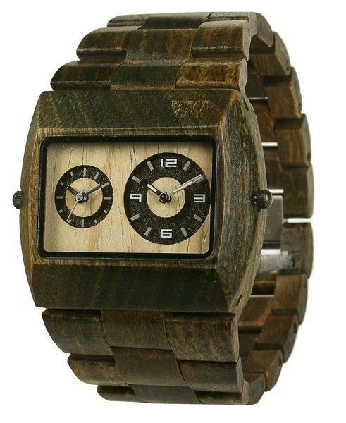 WeWOOD Jupiter Army Green Watch - Natural Wood Timepiece