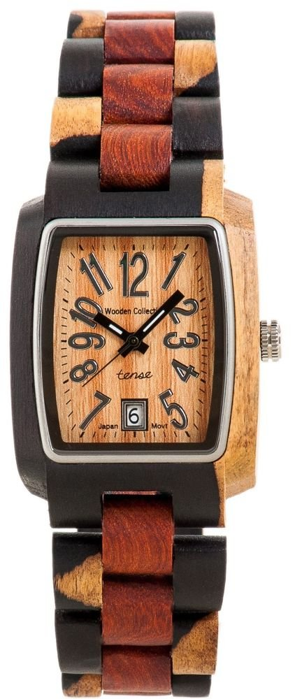 Tense Timber Dark Dual-tone/ Sandalwood Watch J8102IDM - Natural Wood Timepiece