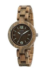 WeWOOD Mimosa Army Green Women's Watch - Natural Wood Timepiece