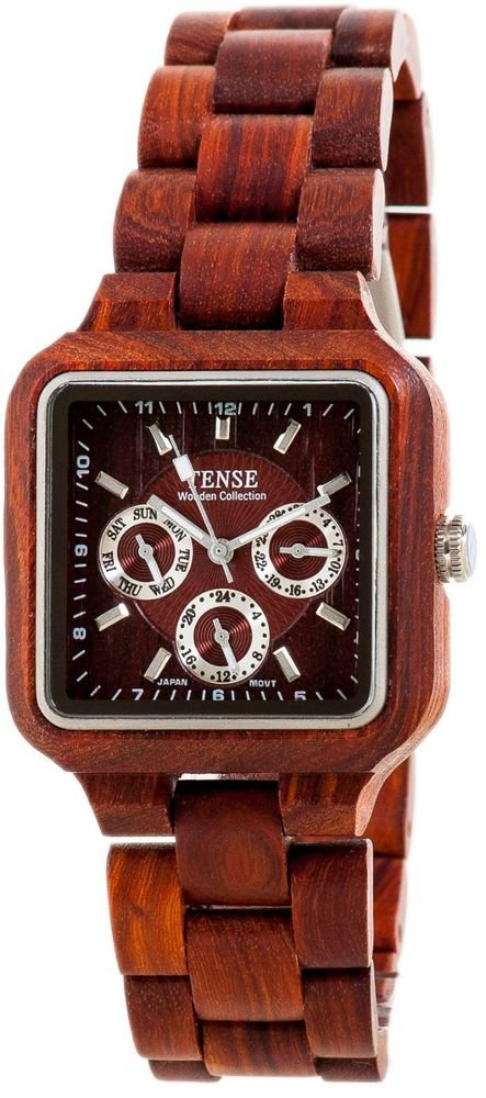 Tense Summit Sandalwood Watch - Model B7305S- Natural Wood Timepiece