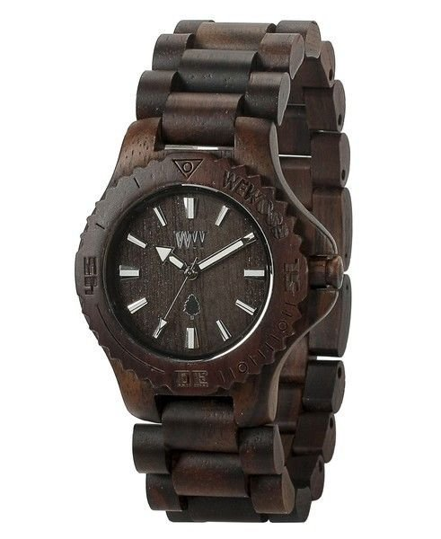 WeWOOD Date Chocolate Watch - Natural Wood Timepiece