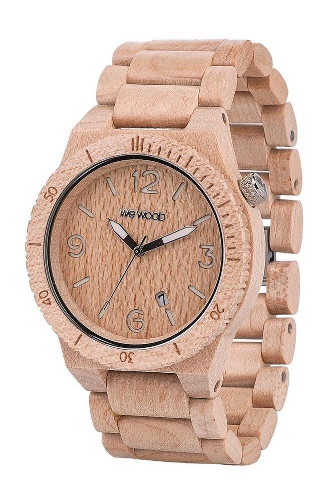 WeWOOD Alpha Beige Watch - Natural Wood Timepiece