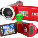 """2.7"""" TFT Screen 3.0Mega Pixels CMOS 720P Digital Video Camera (Red)"""