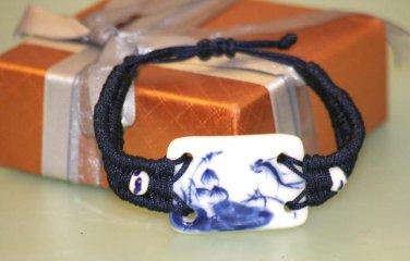 Chinese Ceramics Rope Knot crafts Wristband Bracelet