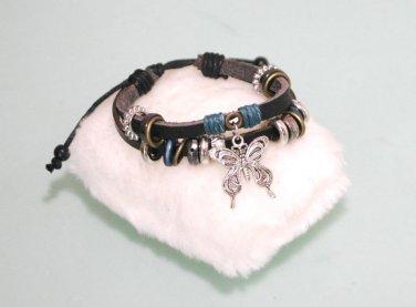 Ethnic Minorities Style Leather metal Wristband Bracelet