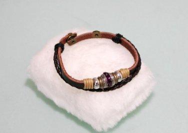 Ethnic Minorities Style Leather mix metal beads Bracelet