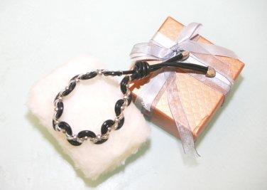 Styles  Infinity Leather  Silver mix bracelet braided leather bracelet