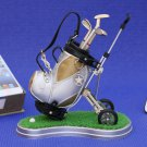 Golf clubs desktop Golf Bag Trolley and 3 Pen Gift Set