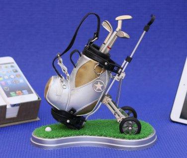 Golf clubs desktop Golf Bag Trolley and 3 Pen Gift Set