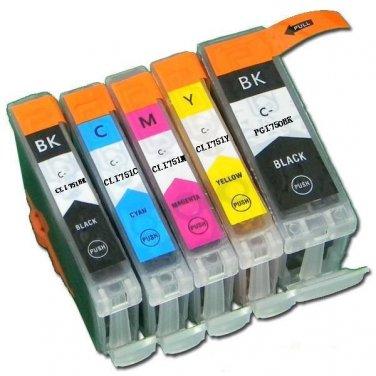 One set 5 pc Compatible Canon PGI-750XL PBK CLI-751XL BK/C/M/Y Ink Cartridge