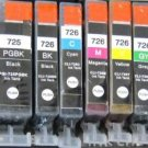 Any 6 Compatible Canon PGI-725BK CLI-726 PBK / C / M / Y Ink Cartridge
