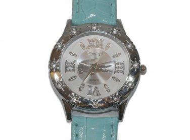 Fashion Crystal Girl Lady Leather Watch Quartz Gifts Fashion Luxury