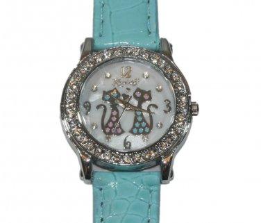Fashion Crystal Girl's Leather Watch Quartz Gifts Fashion Luxury