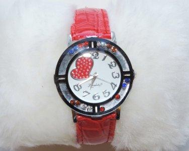 Fashion Crystal beads Women's Leather Watch Quartz Gifts Fashion Luxury