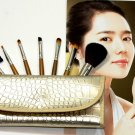 7pc Make Up Brush Set Blush Brush Eyeshadow Eyelash Eyeliner Eyebrow Comb w/Bag