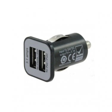 USB Port Fast Car Charger Adapter 5V 3.1A For All Devices