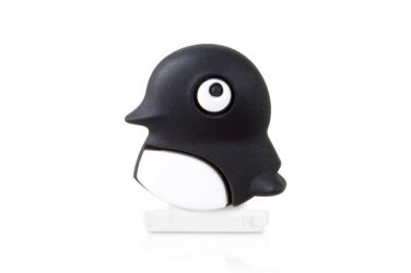3D Cute Penguin Cap with Dust Plug & Home button for iphone5 ipad4 /Mini ipod