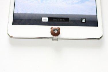 3D Cute Penguin Cap with Dust Plug & Home button for iphone5 ipad4 /Mini ipod