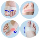 2pcs Silicone Toe hallux valgus Separators Straighteners Bunion Relief