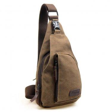 New Mens Canvas Messenger Shoulder Travel Hiking Bag Backpack 5 colors