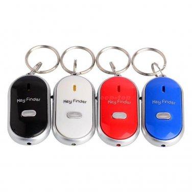 LED Key Finder Locator Find Lost Keys Chain Keychain Whistle Sound Control