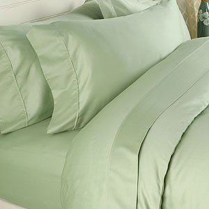 "1200TC Egyptian Cotton Extra Deep Pockets 28"" Sage Set 4Pc Full Size"