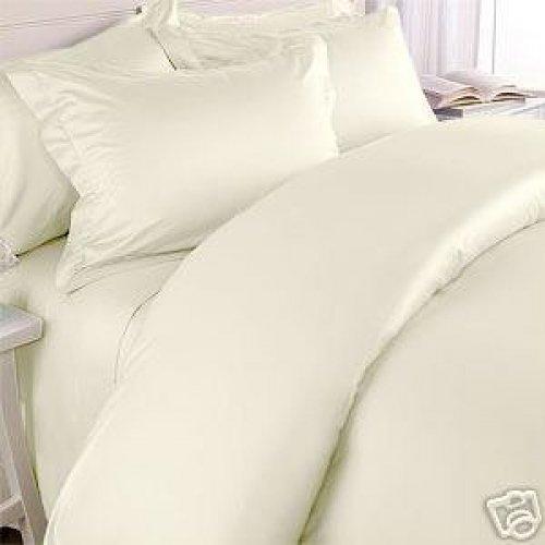 "1200TC Egyptian Cotton Extra Deep Pockets 28"" Ivory Set 4Pc Full Size"