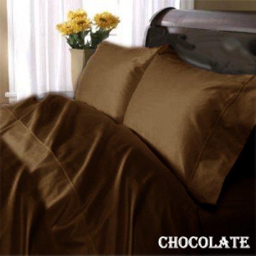 "1200TC Egyptian Cotton Extra Deep Pockets 28"" Choclate Set 4Pc Full Size"