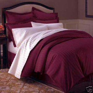 "1200TC Egyptian Cotton Extra Deep Pockets 28"" Marlot Stripe Set 4Pc Olympic Queen Size"