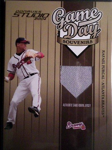 Rafael Furcal Donruss Studio 2004 Game Used Atlanta Braves