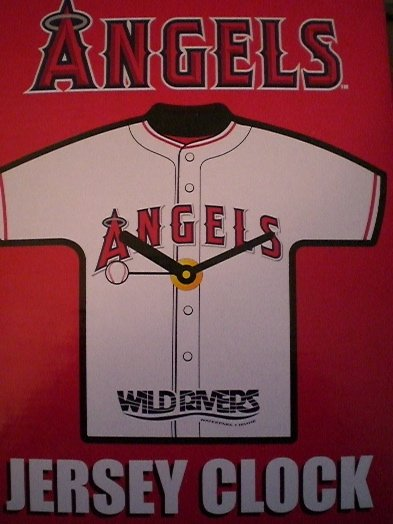 2007 MLB LA Angels Baseball Jersey Clock