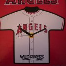 2007 MLB LA Angels Baseball Jersey Clock