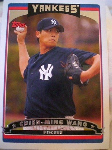 Chien-Ming Wang Topps 2006 Card New York Yankees