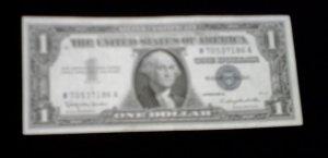 1957 U.S One Dollar Silver Cerificate