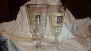 4 Keep it Smple Katie Brown Pedestal Hurricane Candle Holders vase centerpiece