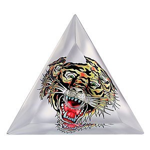 2 Ed Hardy Tiger Limited Edition Glass Taper Candlestick taper candle Holder