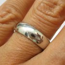 5 MM SOLID PLATINUM PLAIN WEDDING BAND RING in SIZE 7 COMFORT FIT WARRANTY