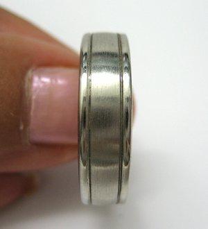6 MM SOLID PLATINUM MEN'S WEDDING BAND RING SIZE 10 COMFORT FIT WARRANTY