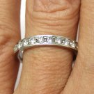 0.50CT PLATINUM ROUND CUT DIAMOND WEDDING ANNIVERSARY BAND RING COMFORT FIT