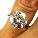 GIA 5.37CT ESTATE VINTAGE SOLITAIRE ROUND DIAMOND ENGAGEMENT WEDDING RING W GOLD