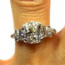 2.32CT ANTIQUE VINTAGE ART DECO SOLITAIRE DIAMOND ENGAGEMENT WEDDING RING EGL