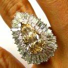 8.68CT VINTAGE FANCY COGNAC DIAMOND BALLERINA ENGAGEMENT WEDDING RING EGL USA PL