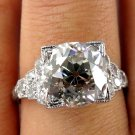 3.25CT ART DECO ANTIQUE VINTAGE DIAMOND ENGAGEMENT WEDDING RING EGL USA PLATINUM