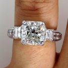 5.15CT VINTAGE ESTATE SQUARE RADIANT DIAMOND ENGAGEMENT WEDDING RING EGL USA PLA